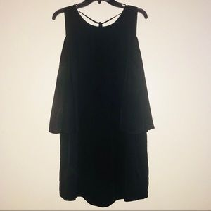 Naked Zebra cold shoulder sheath dress